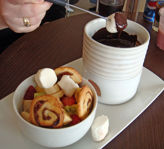 The famous Casper & Gambini's chocolate fondue