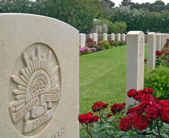 ANZAC Day - Australian Imperial Force headstones in Beirut